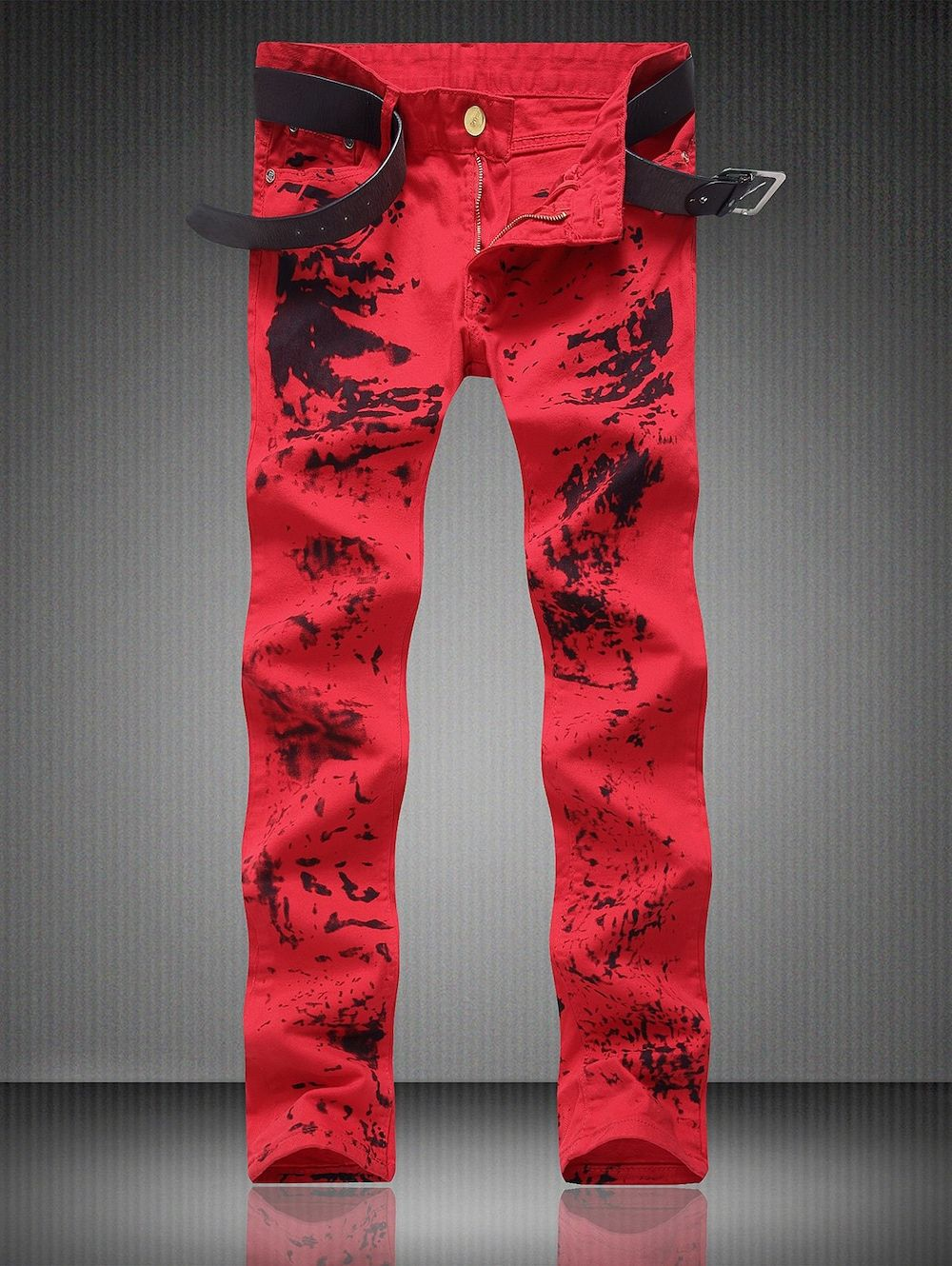 Zipper Fly Pocket Paint Splatter Straight Jeans is part of Emo Clothes Cheap - Cheap Fashion online retailer providing customers trendy and stylish clothing including different categories such as dresses, tops, swimwear