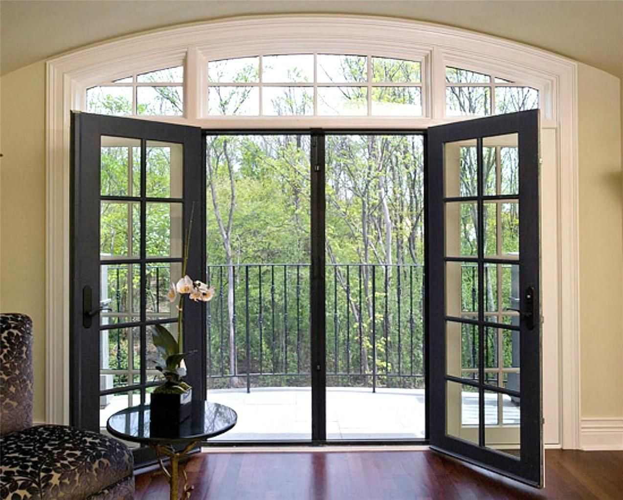 Retractable door fly screens for french doors 1700mmw x for Patio doors with windows that open