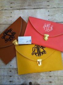 Monogrammed Clutch Purse/ envelope  clutch purse/ monogrammed purse on Etsy, $19.95 bridesmaids?