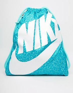 8dc9bdda74e14 Nike Heritage Gymsack in Turquoise Leopard Print