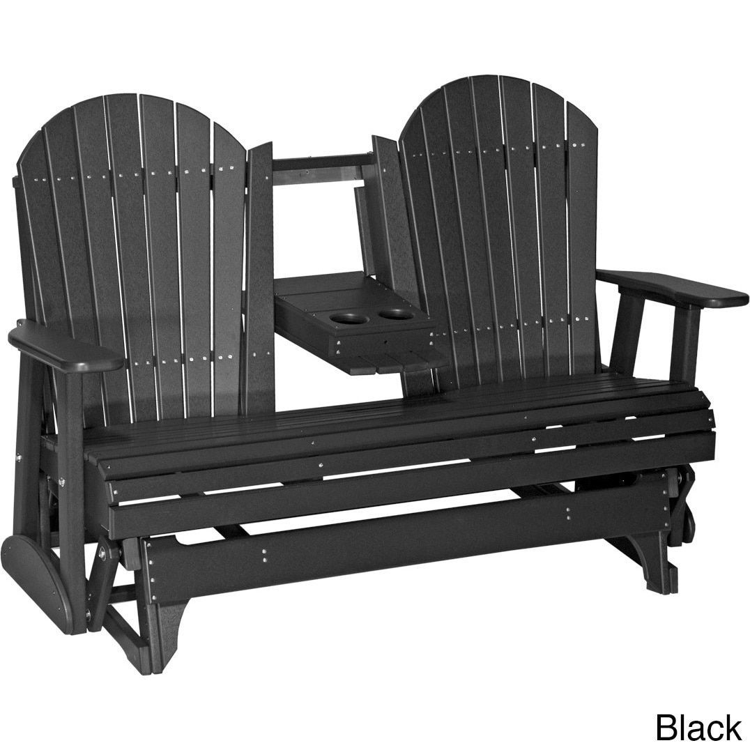 Stupendous Poly Outdoor 5 Foot Adirondack Porch Glider Bench Dove Gray Ncnpc Chair Design For Home Ncnpcorg
