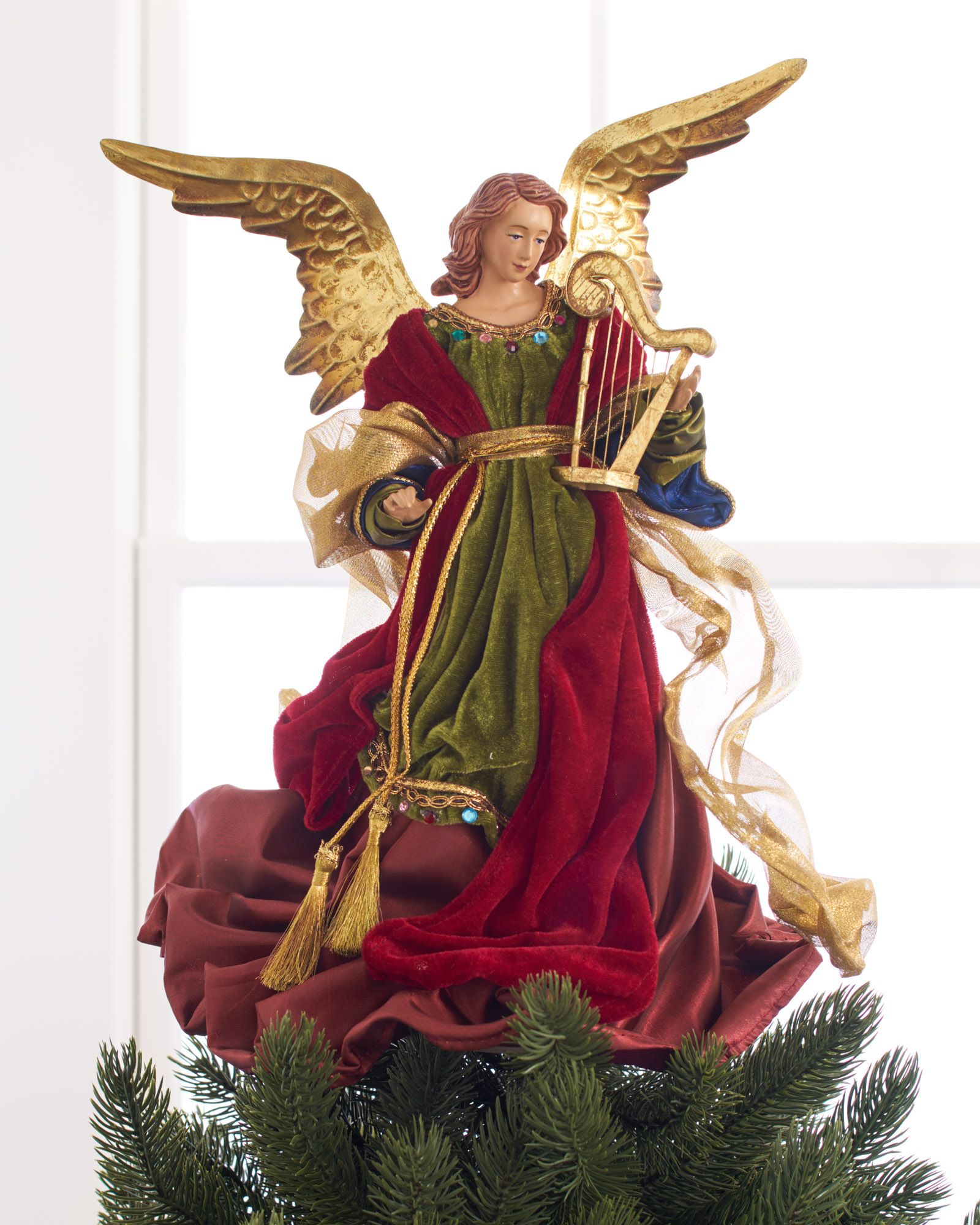 balsam hills christmas angel tree topper captures the essence of the kindly figure from which it - Christmas Angel Tree