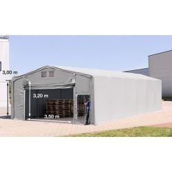 Photo of Zelthalle 8x12m Pvc 720 g/m² grau wasserdicht Industriezelt ToolportToolport