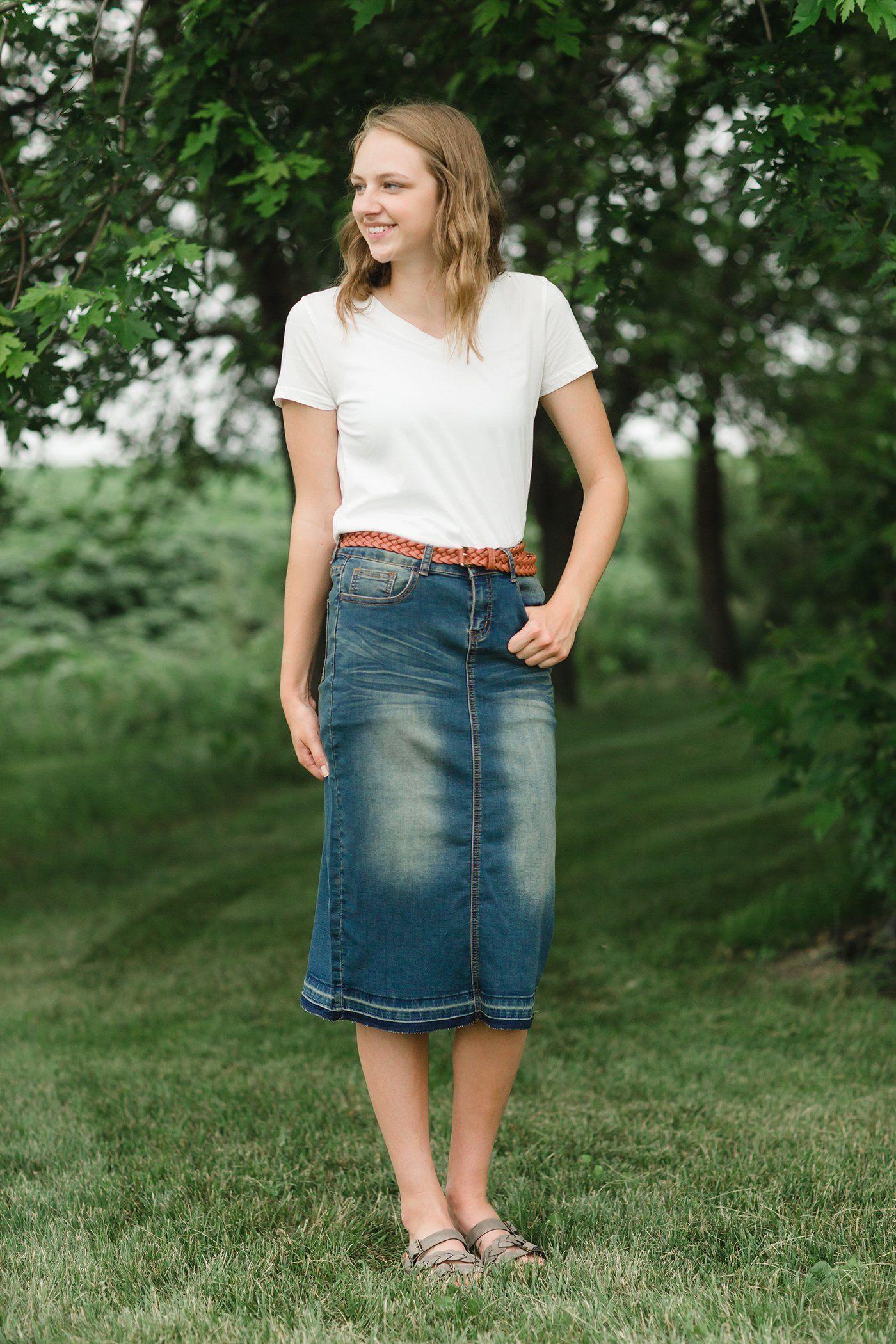 3d5928fab2c6 Jacki Midi Skirt | Spotlight Denim Skirts | Inherit Co. | Skirts ...