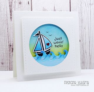 Lawn Fawn -  Float My Boat + coordinating dies, Critters in the Sea _ super cute card by Francine - Just wavin' hello via Flickr - Photo Sharing!
