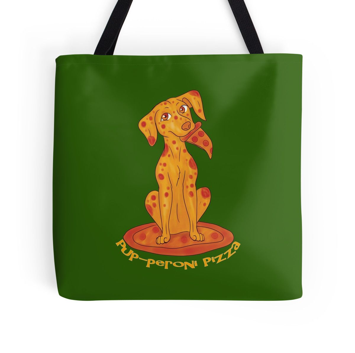 """Pup-peroni Pizza"" Tote Bags by thekohakudragon 