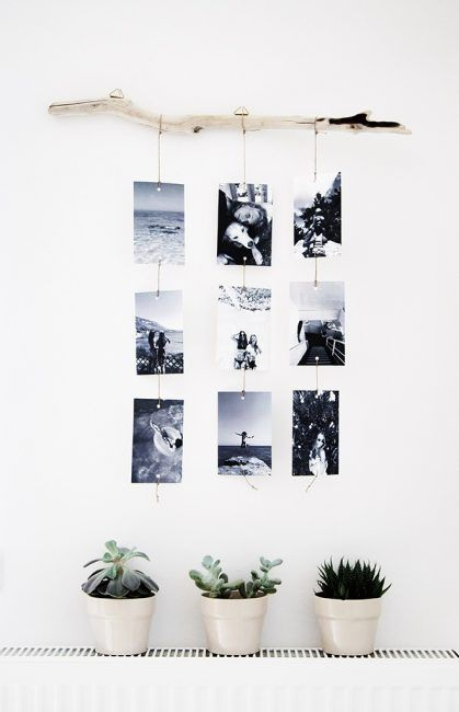 30 Ideas para decorar una habitación con fotos | Pinterest | Colgar ...