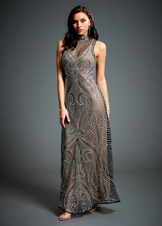 Olivia Embellished 1920s Great Gatsby, Charleston Mocha Wedding ...