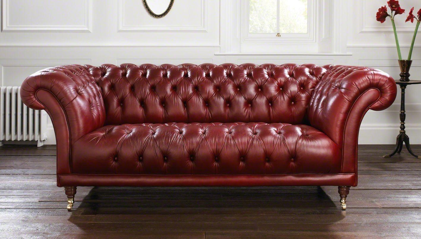 Restoration Hardware Goodwood Chesterfield Antique Wine 89 Wide Ebay Sofa Contemporary Modern Furniture Chesterfield