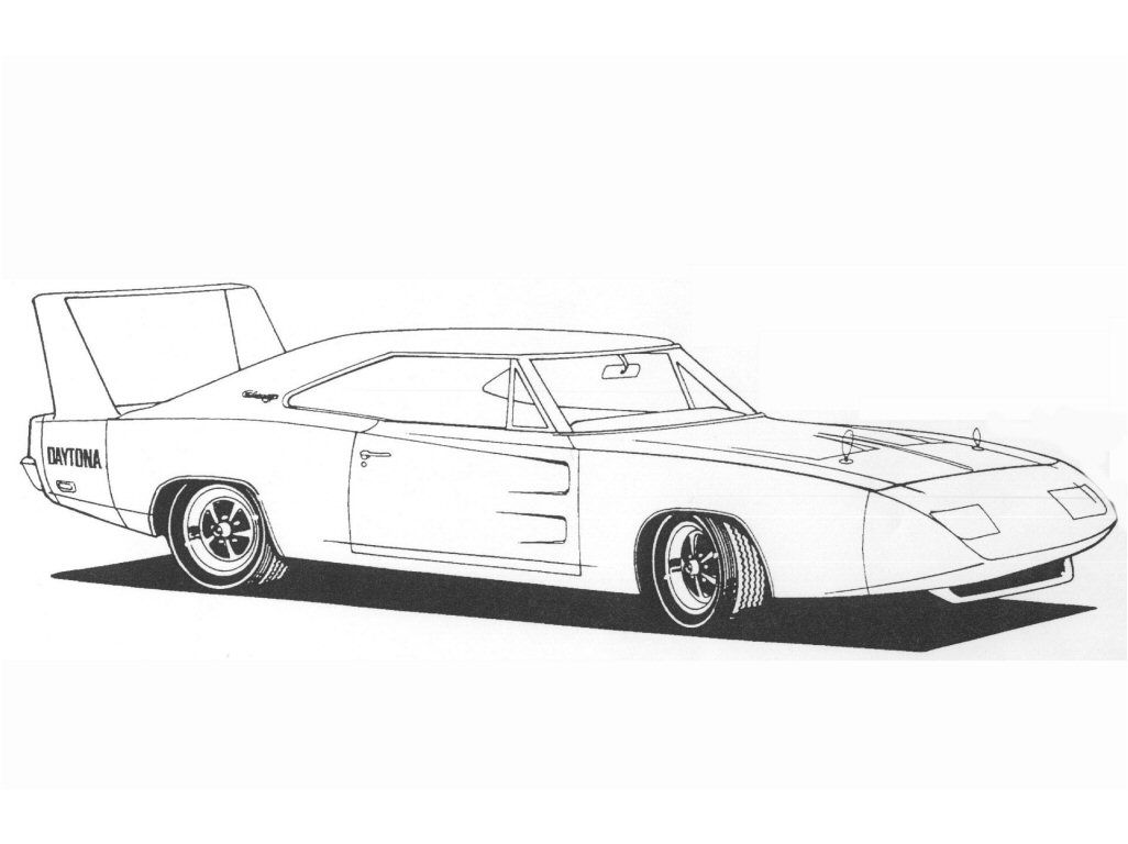 72bf4038791c 1969 Dodge Charger Daytona drawing