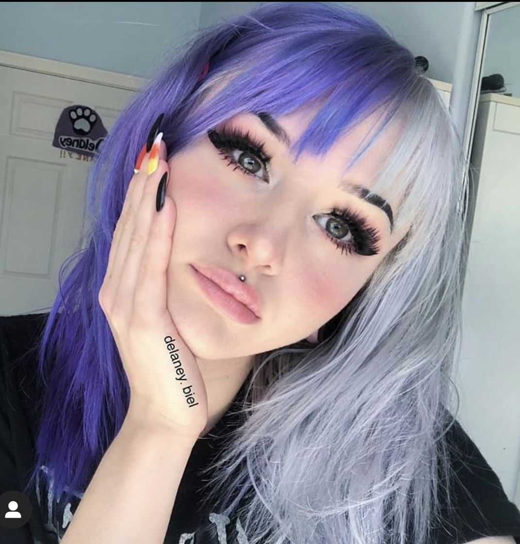 Half And Half Hair Color In 2020 Split Dyed Hair Hair Inspo Color Half Colored Hair