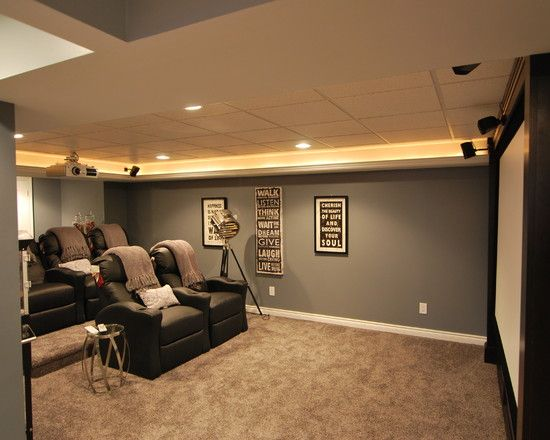 Basement home theater design pictures remodel decor and for Basement theater room