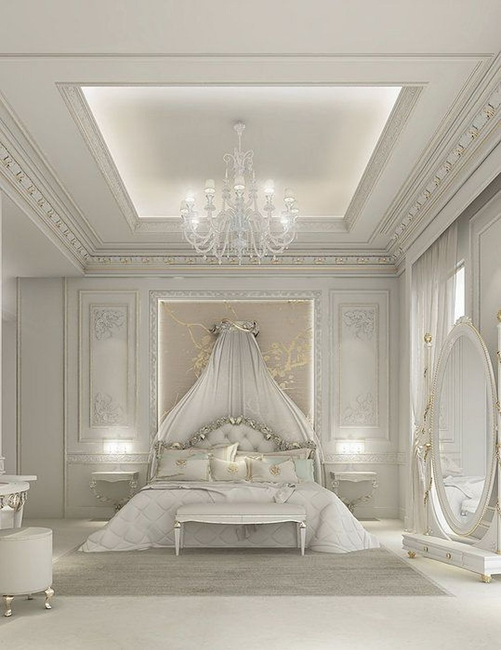 20 Wonderful White Master Bedroom Interior Design Luxurious