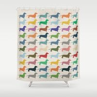Shower Curtain Featuring Dachshund By Opul