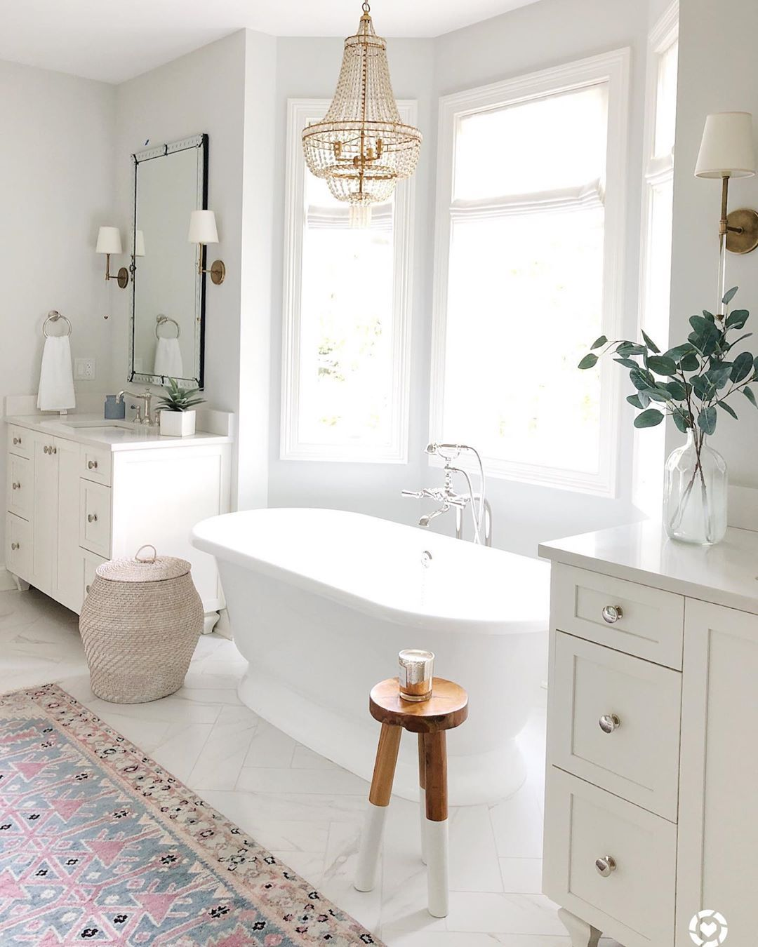 Friday Night Vibes Today On The Blog Link In Bio I Rounded Up My Best Selling In 2020 White Master Bathroom Free Standing Bath Tub Master Bathroom