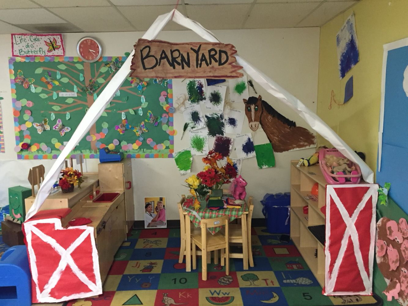 Barn Yard Dramatic Play Area