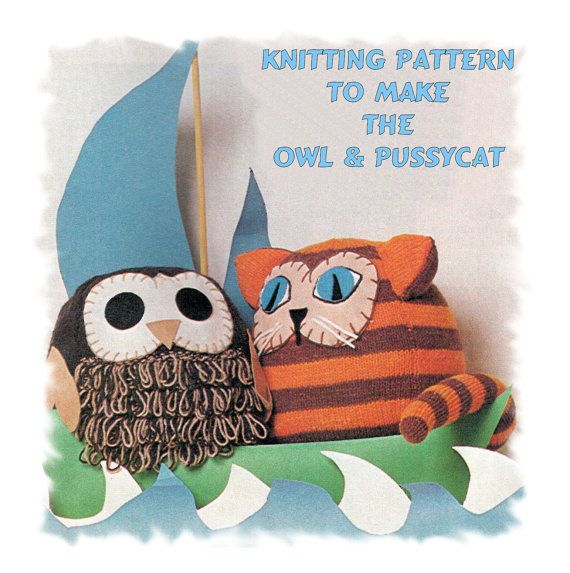 Instant Download PDF Knitting Pattern to make a Novelty Animal ...