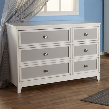 Pali Treviso Two Tone Double Dresser In White Grey Discount