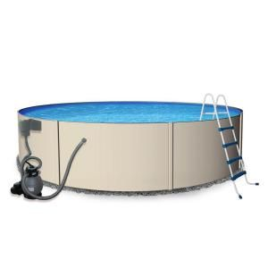 Blue Wave Rugged Steel 15 Ft Round X 52 In Deep Metal Wall Above Ground Pool Package Nb3306 The Home Depot Swimming Pools Vinyl Pool Swimming Pool Stores