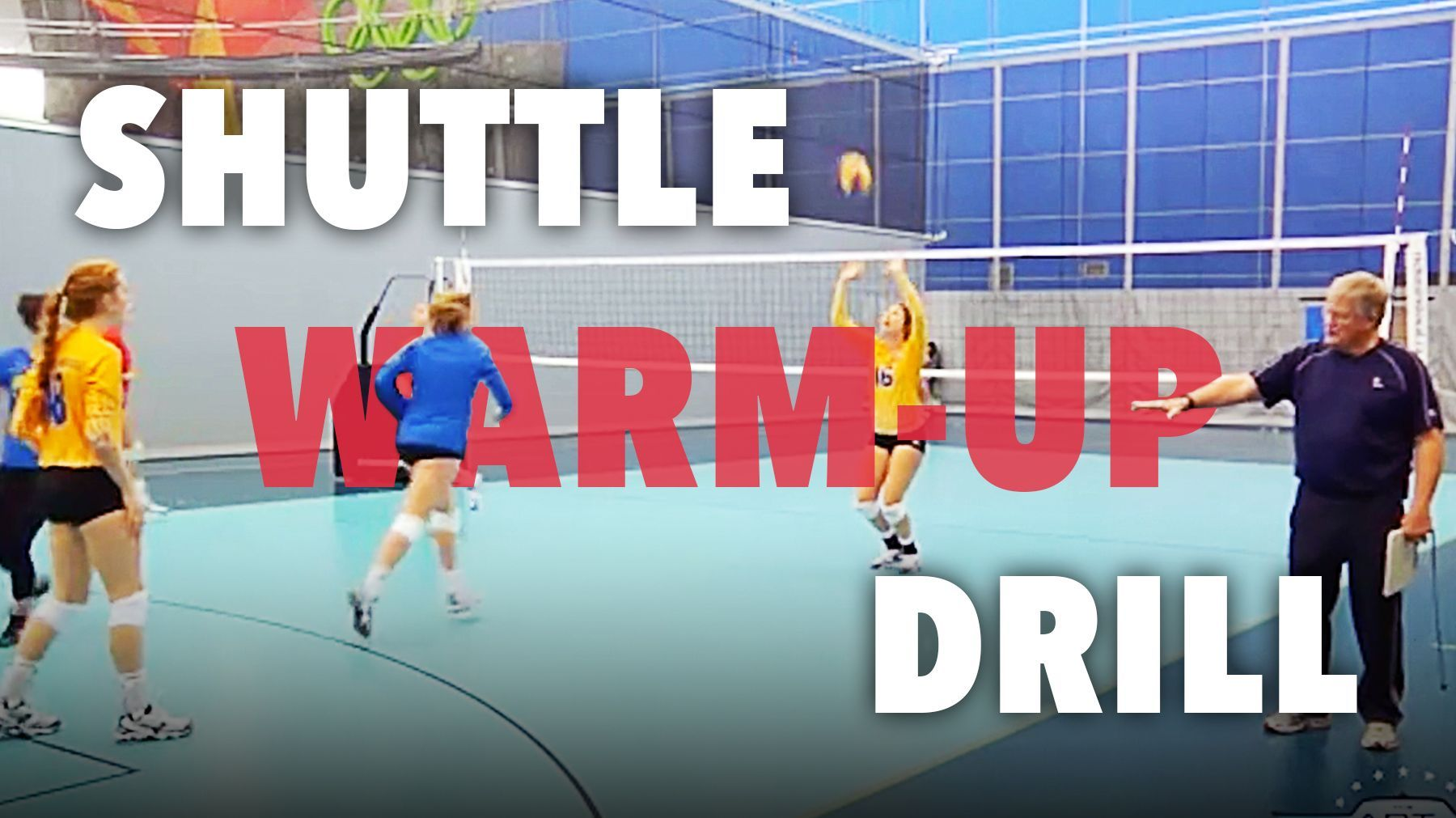Review Skills With Shuttle Warm Up Drill Coaching Volleyball Volleyball Drills Volleyball Skills