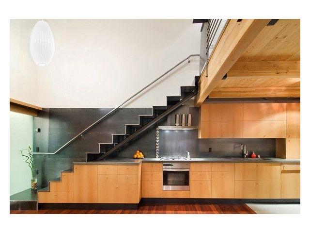 21 Idées Pour Des Cuisines Aménagées Sous Des Escaliers