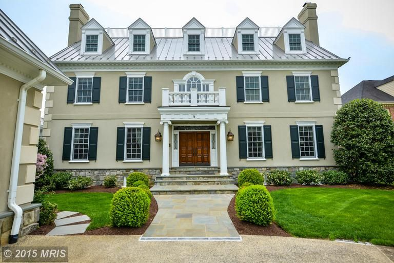 This Elegant Stone Colonial In Alexandria Va Is The Epitome Of A Dream Home House Tower House House Styles