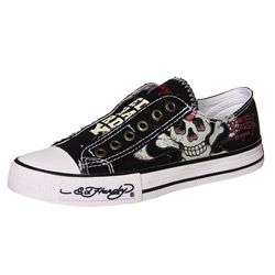 f66c5e5a475f Ed Hardy Women s  Classic  Lowrise Canvas Sneakers - Overstock™ Shopping -  Great Deals on Ed Hardy Sneakers