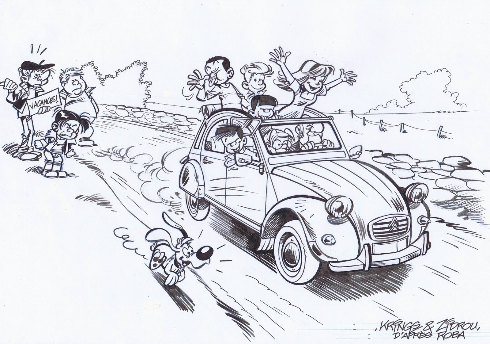 Boule bill deudeuche nostalgie voiture 2cv et 2cv citroen - Dessin vieille voiture ...