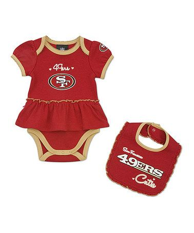 6012aa5bf Take a look at this San Francisco 49ers Skirted Bodysuit   Bib - Infant by  NFL on  zulily today!