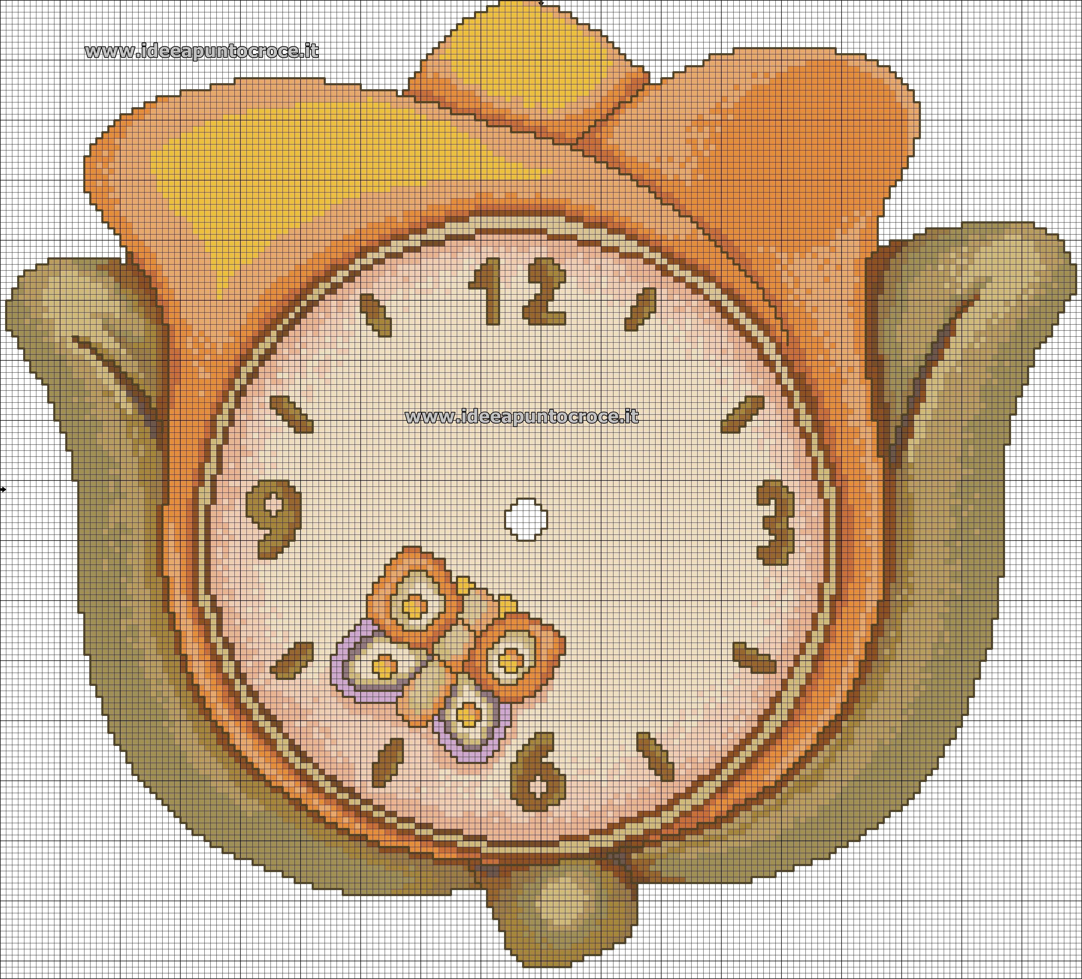 Formella thun schema punto croce schemi thun for Orologio punto croce schemi gratis