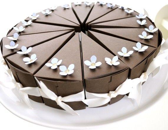 reserved listing chocolate cake favor boxes with blue flowers 1 cake wedding bridal. Black Bedroom Furniture Sets. Home Design Ideas