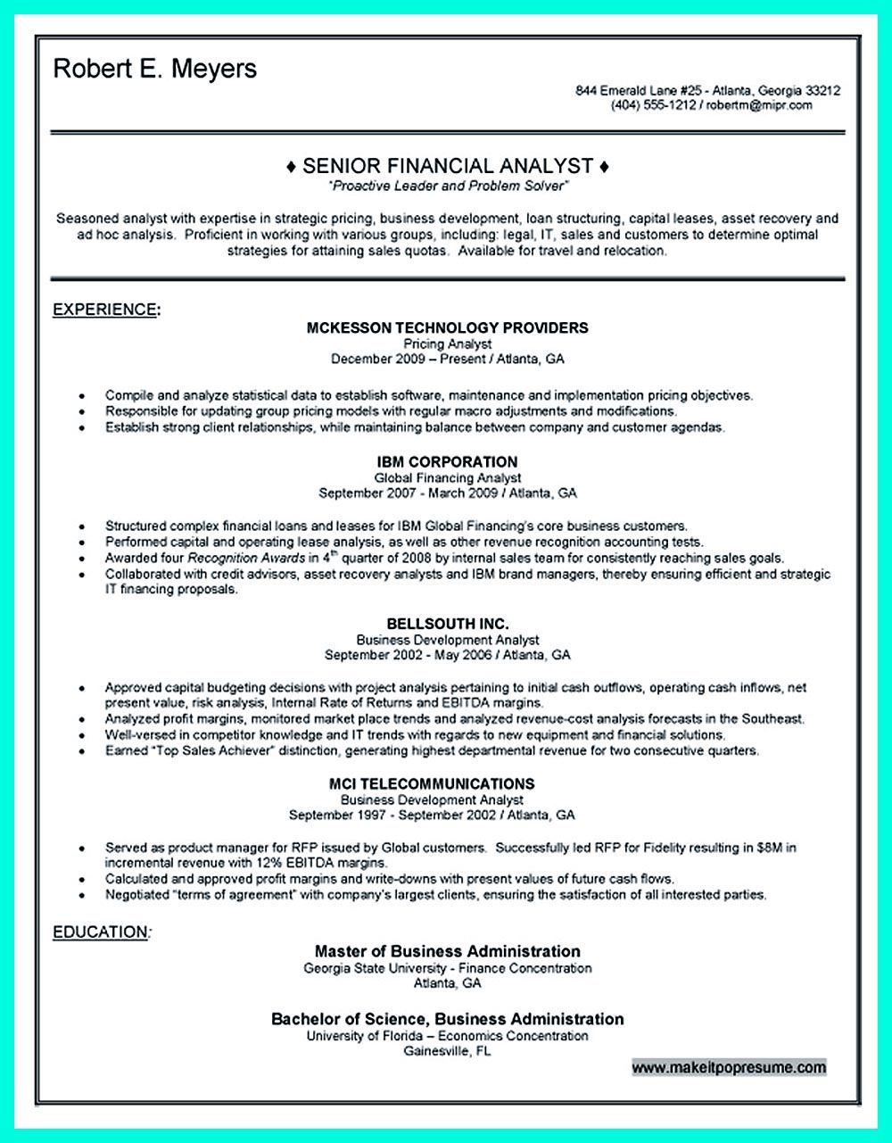 Writing credit analyst resume is a must if you want to get