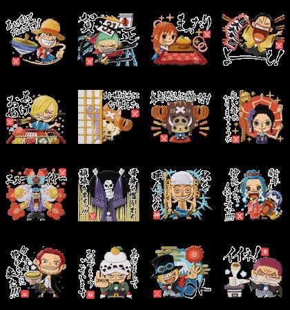 ONE PIECE New Year's Omikuji Stickers LINE Sticker