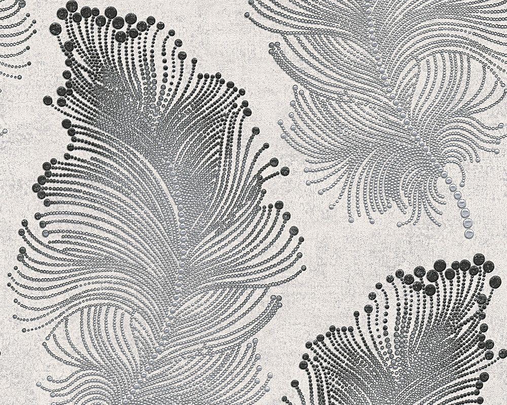 baroque floral wallpaper in metallic and black design by bd wall ornament pinterest bilder. Black Bedroom Furniture Sets. Home Design Ideas