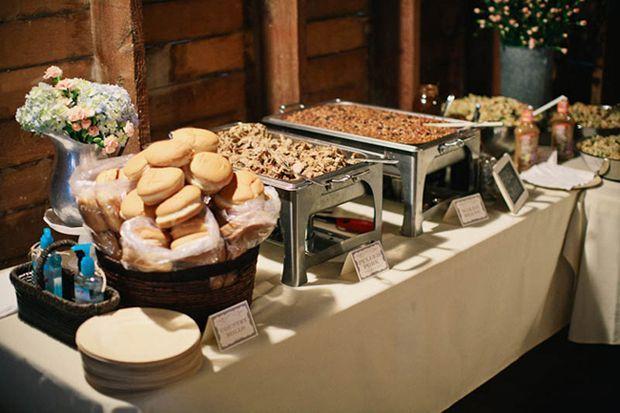 Images Of Barn Wedding Dishes Barn Wedding With Bbq Food Wedding Reception Food Reception Food Bbq Recipes