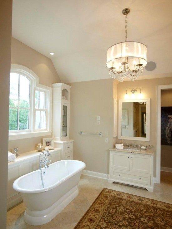 Tan And White Bathroom Decor Bathroom Design Ideas