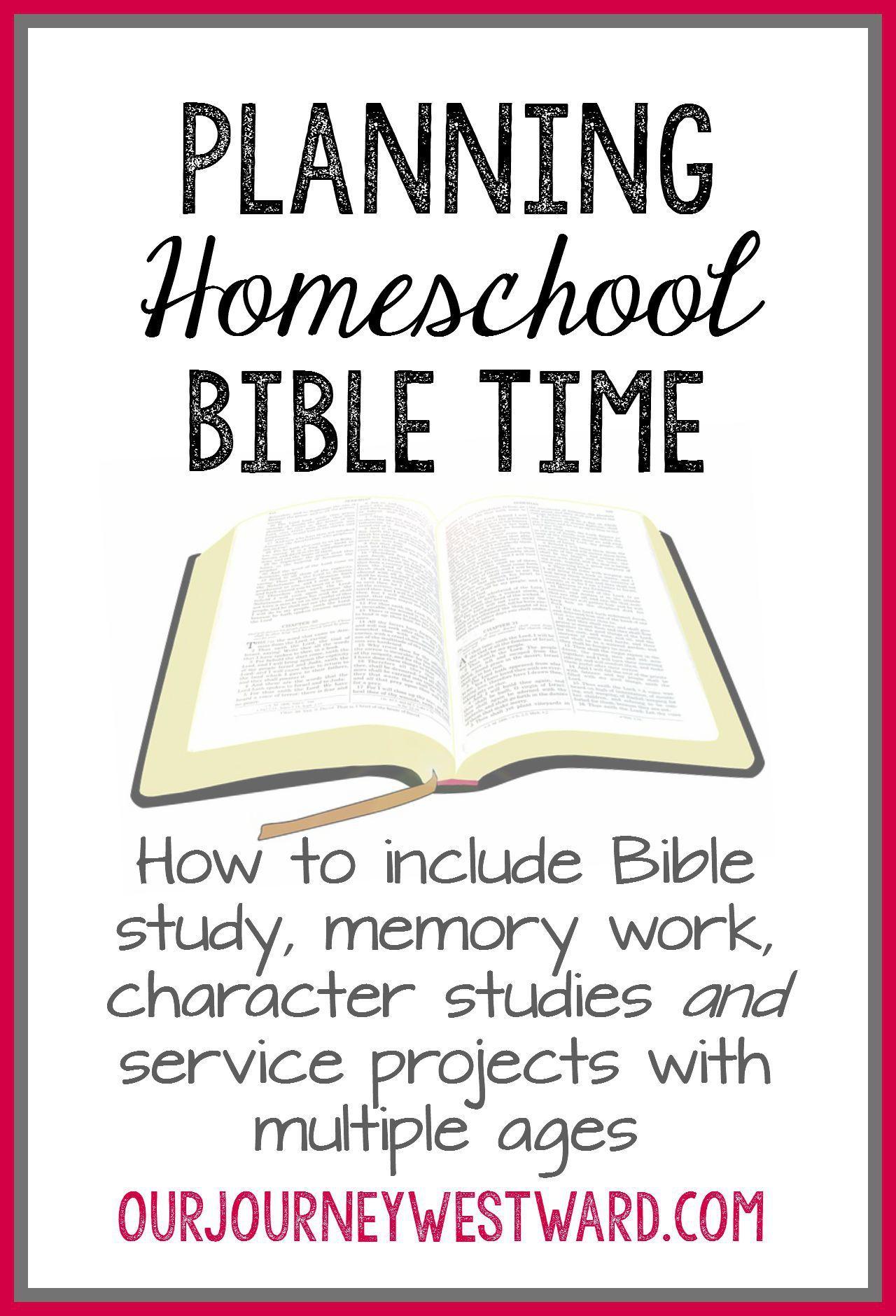Planning Homeschool Bible Time