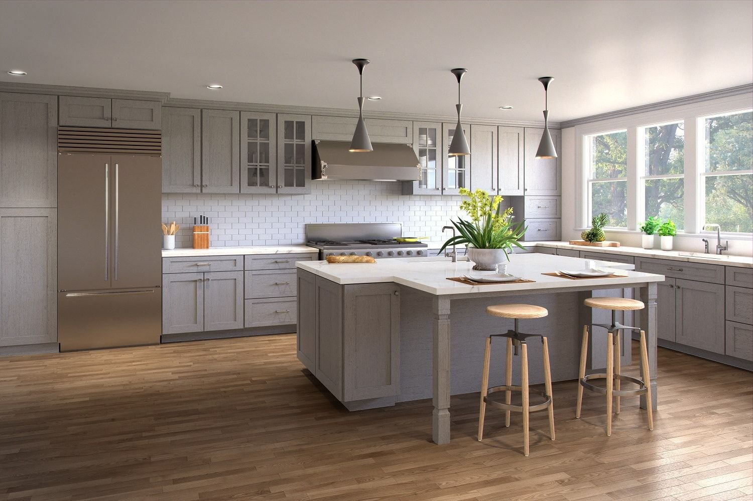 Beautiful Shaker Style Kitchen Cabinets Light Grey Kitchen Cabinets Shaker Style Kitchen Cabinets Kitchen Cabinet Styles