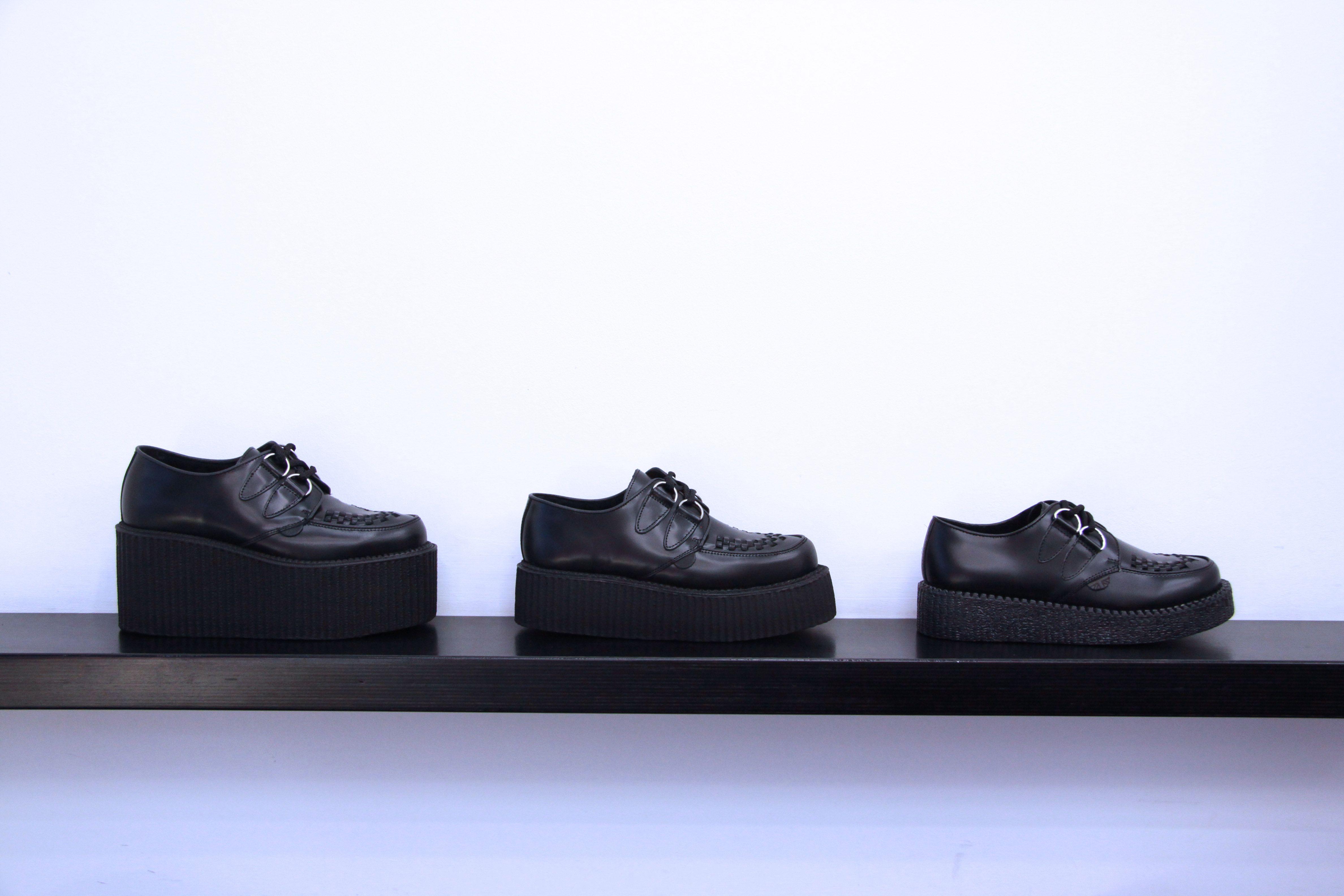 48c71325661 UNDERGROUND SHOES. The Original Wulfrun Creeper. Black Leather Creeper Shoes  in Triple