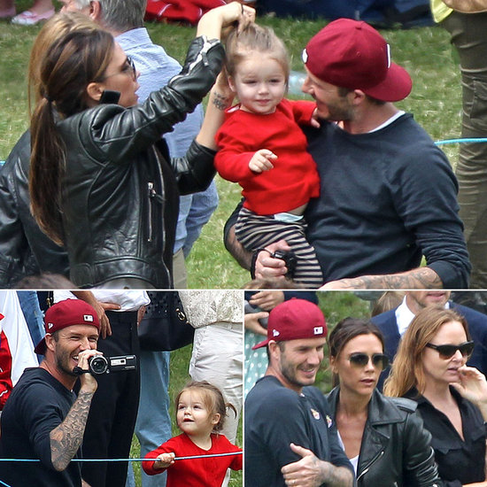 David and Victoria Beckham Might Be the Cutest Parents Ever David and Victoria Beckham took their daughter, Harper, to watch her big brother Cruz play soccer as part of his school's annual sports day in London on Monday.