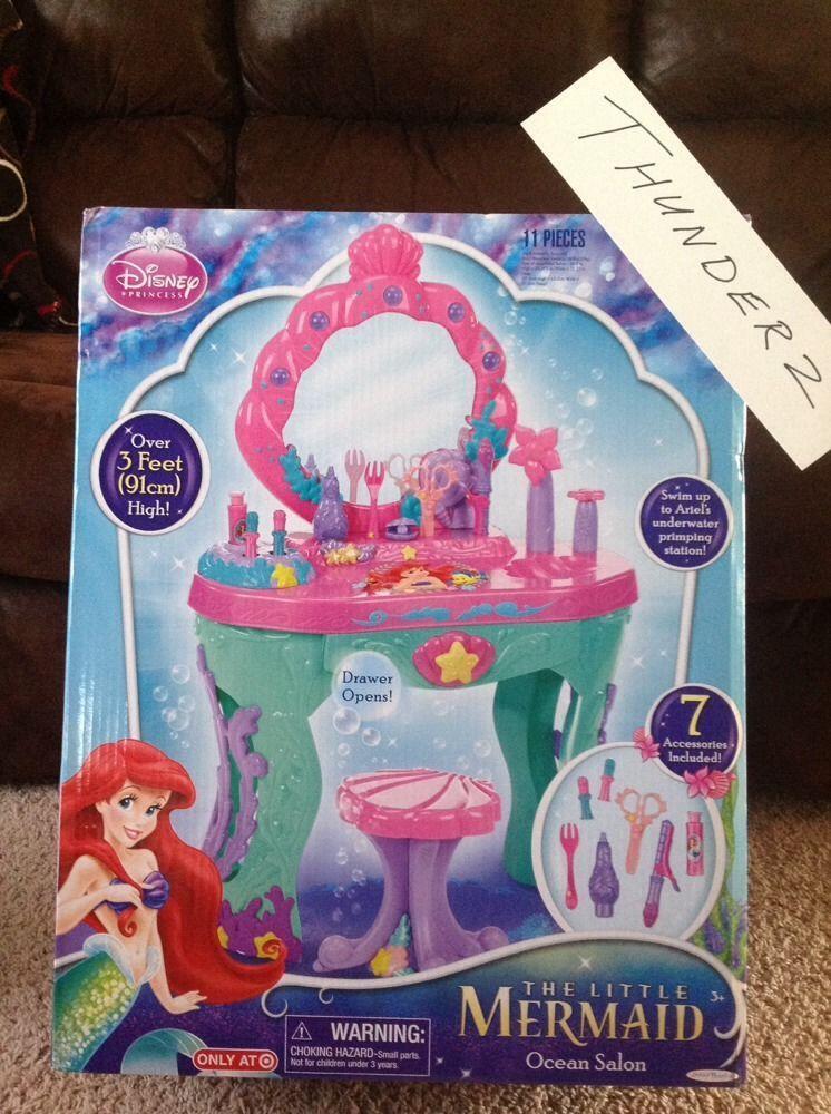 New Disney Princess Vanity Set Kids Pretend Little Mermaid