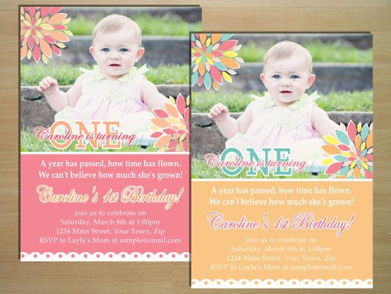 Hey, I found this really awesome Etsy listing at https://www.etsy.com/listing/183782542/flower-1st-birthday-invitation-digital