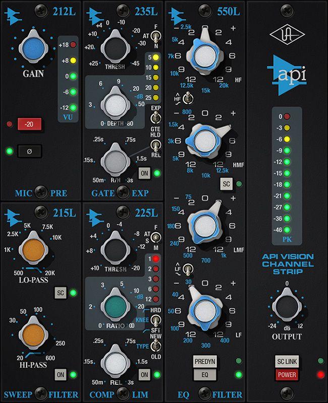 Api Vision Channel Strip Uad Audio Plugins Universal Audio Channel Strips Audio Channel
