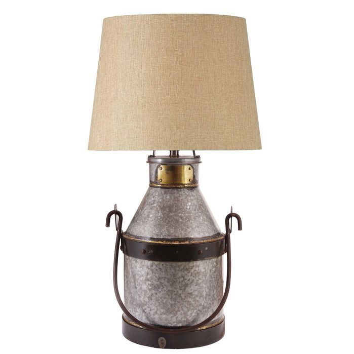 Cudahy Galvanized Iron With Bronze One Light Table Lamp Accent Lamps