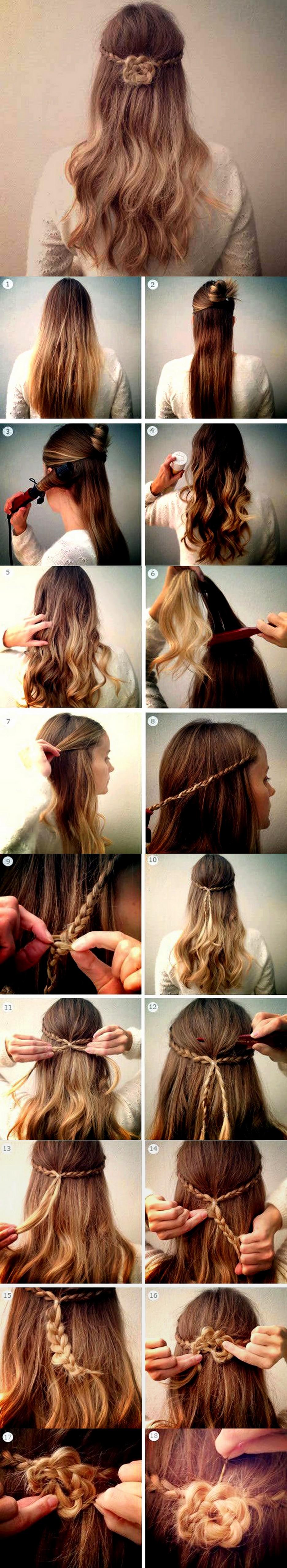 Hairstyle Flower Braid