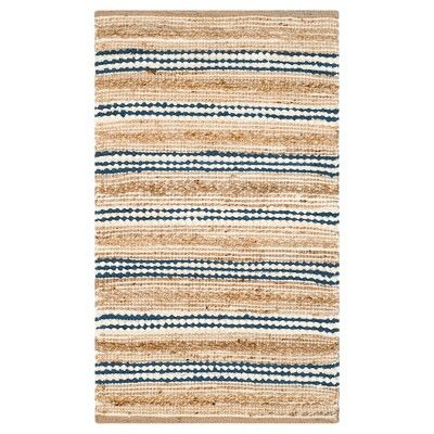Find Product Information Ratings And Reviews For Natural Blue Stripes Woven Accent Rug 2 3 X3 9 Safavieh Online O Rugs Cape Cod Rug Natural Fiber Rugs