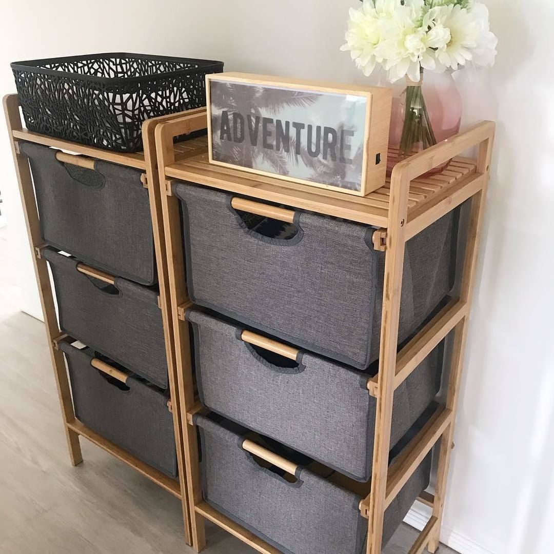 Kmart Australia On Instagram Storage Meets Style With Our Great Looking 49 3 Drawer Unit With Bamboo Frame Thanks So Much Fo Storage Kmart Home Drawer Unit