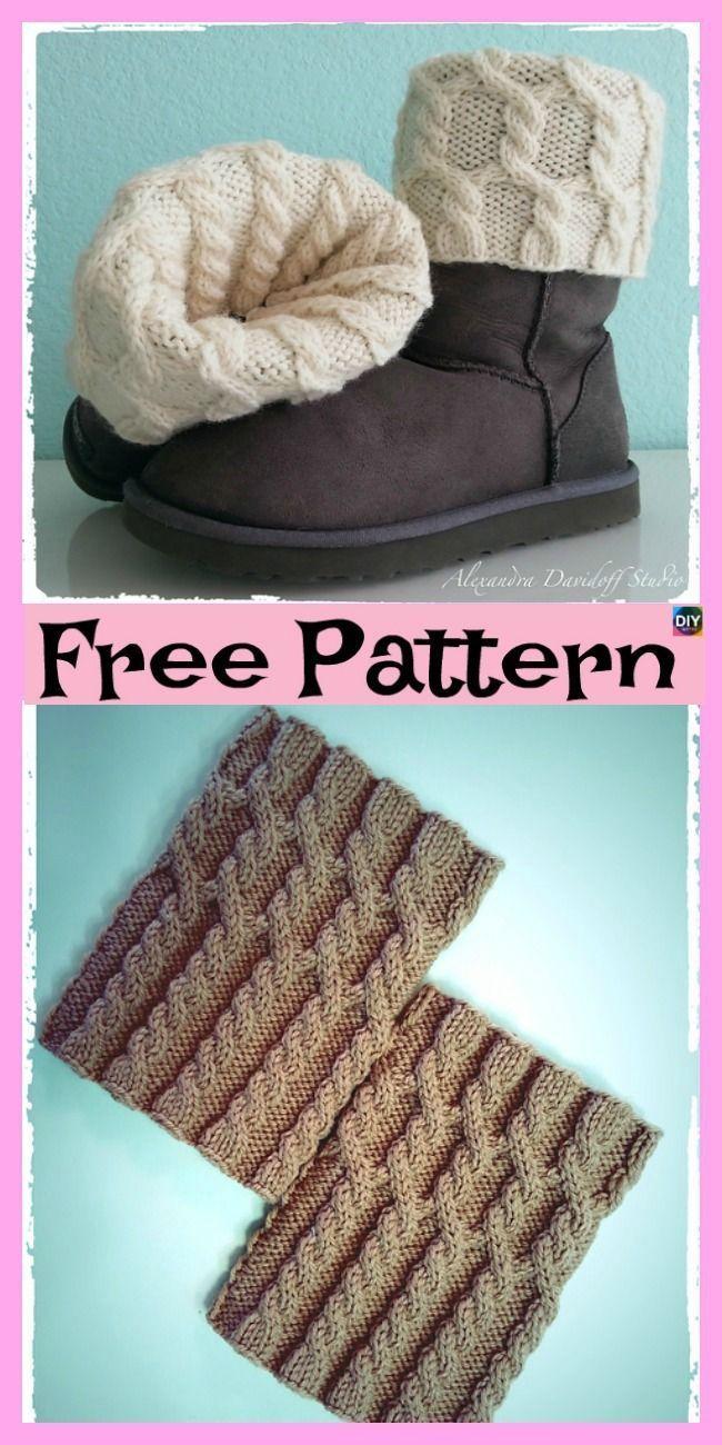 10 Cosy Knitting Boot Cuffs - Kostenlose Muster #bootcuffs ...