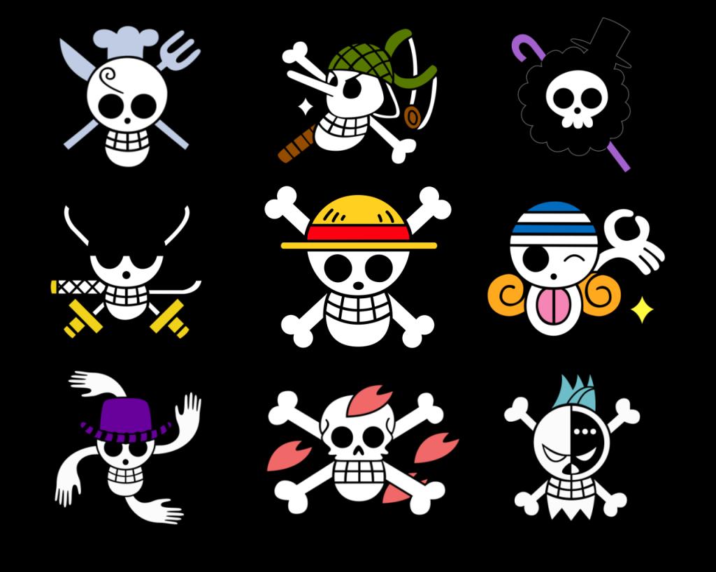Pirate Skulls One Piece Logo One Piece Crew One Piece Anime