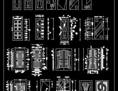 Metal and Steel Door Autocad blocks dwg free download